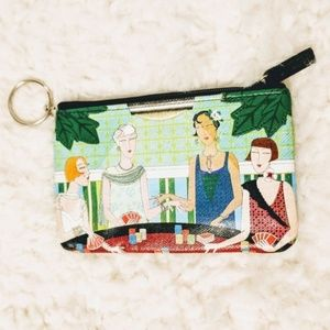 ROLFS Leather Poker Ladies Coin Card Case Keychain